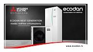 Jaunās paaudzes gaiss–ūdens sistēmas siltumsūkņi no Mitsubishi Electric