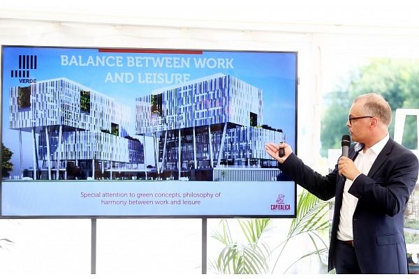 """Attīstītājs: Plānotais biroju centrs """"Verde"""" būs viens no lielākajiem Rīgā"""