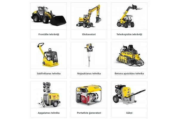 """Kvalitatīvas iekārtas un industriālā tehnika celtniecībai – """"WackerNeuson"""""""