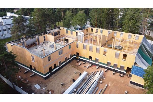 Būvniecībā ienāk energoefektīvas koka konstrukciju daudzstāvu būves