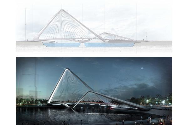 """Ķīnā taps """"bezgalīgās cilpas"""" tilts"""