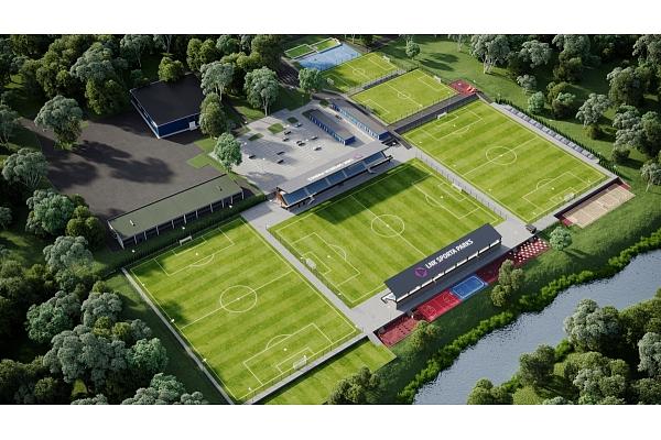 Valdlaučos top Latvijā lielākais privātais sporta komplekss ar futbola un citu sporta veidu laukumiem