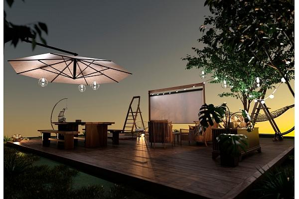 4 interjera stili 4 žanru kino seansiem pagalmā vai terasē: Iesaka eksperte