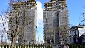 """""""Filozofu rezidences"""" būvniecība tuvojas noslēgumam"""