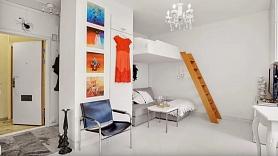 Kā ierīkot guļamvietu studijas tipa dzīvoklī? 5 idejas iedvesmai