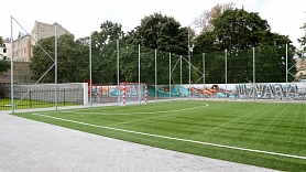 Par 1,4 miljoniem eiro pārbūvē sporta laukumu pie Bauskas 2.vidusskolas