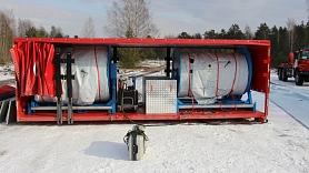 VUGD papildina aprīkojuma un transportlīdzekļu klāstu ar plūdu novēršanas barjeras konteineru un bezceļa auto