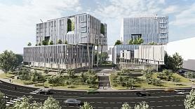 Rīgas zaļākā biroju kompleksa VERDE būvniecība sasniegusi jau pusi