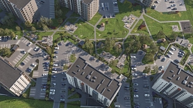 """Projektā """"Krasta kvartāls"""" taps vēl trīs daudzdzīvokļu dzīvojamās ēkas"""