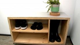 Kā izveidot kurpju plauktiņu?