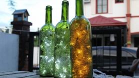 Kā no stikla pudeles izgatavot lampiņu?