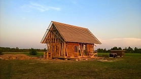 Salmu mājas būvniecība un īpatnības