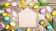 8 pavasarīgas idejas, kā izrotāt māju uz Lieldienām