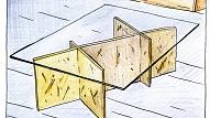 Izgatavo pats! Vienkāršs žurnālu galdiņš no stikla un OSB plāksnēm