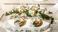 6 idejas, kā krāšņi izrotāt svētku galdu