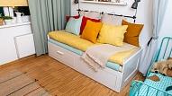 Kā efektīvi iekārtot mazu dzīvojamo istabu? Iesaka interjera dizainere