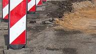 Jelgavā atsākušies būvdarbi Lielajā ielā