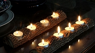 Kā izveidot svečturi no koka zara?