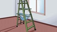 Kā no saliekamajām trepēm uztaisīt mājiņu kaķim?
