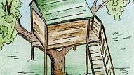 Kā uzbūvēt namiņu kokā?
