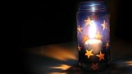 Kā uztaisīt zvaigžņotu gaismekli burciņā?