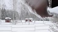No jumta nenotīrīts sniegs – apdraudējums ēkas konstrukcijām