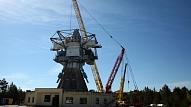 Pārbūvēs Irbenes radioteleskopa torņa piebūves jumtu