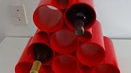 PVC cauruļu vīna plaukts
