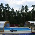 Sliding pool roofs on order