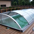 Swimming pool polycarbonate roofs