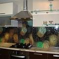 "Virtuves stikla panelis ar fotoplēvi ""Burbuļi"""