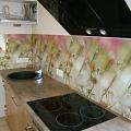 """Virtuves stikla panelis ar fotoplēvi """"Pļavas ziedi"""""""