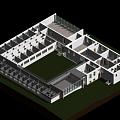 Holte-Hus school in Denmark, 3D modeling