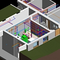 Holte-Hus school in Denmark, engineering network 3D modeling