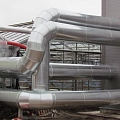 Cogeneration station energy equipment installation, industrial buildings