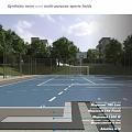 Sports field coating