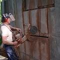 Betona sienu zāģēšana