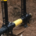 Main gas and oil pipeline construction