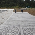 Geosynthetic material decking