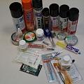 Alva, lodēšanas pasta, lodēšanas skābe, kalafonijs, kontaktu aerosoli, kontaktu tīrītāji, termopasta, kodināšanas līdzekļi, dzelzs hlorīds, kīmija elektronikai, lodēšanas ķīmija