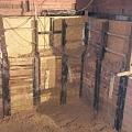 Pagraba būvbedres izbūve, atbalstsienas