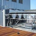 Ventilation outlets, installation of ventilation pipes, HVAC systems