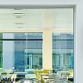 Glass panels in offices