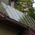 Saules kolektori uz jumta, Daugavpils