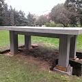 Monument concreting