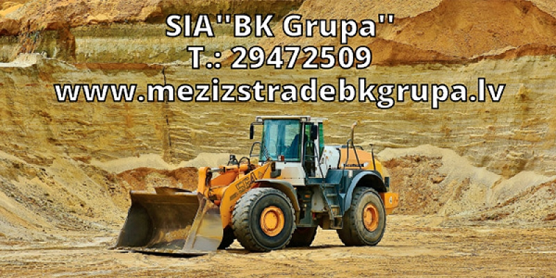 SAND QUARRY - Sand extraction, trade. Road, highway, For the construction of highways, squares, squares, we supply sand throughout Latvia.
