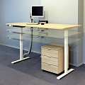 Electrically adjustable table