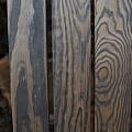 Peeled, painted wood