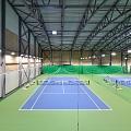 CEWOOD akustiskās sienu apdares plātnes (fibrolīts) tenisa centrā Lielupe