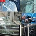 A 18 Broken glass
